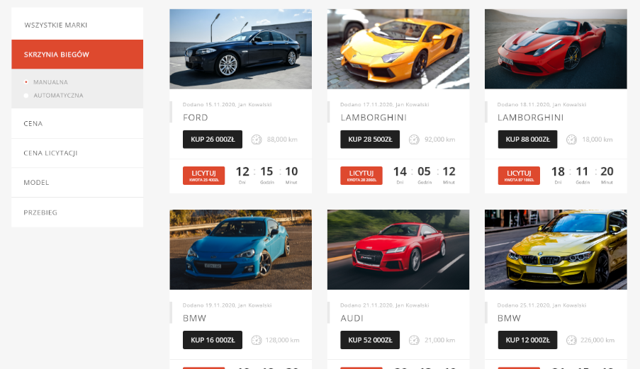 pomysł na portal aukcyjny i platformę e-commerce